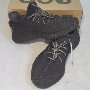 Adidas Yeezy 350 v2 black sneakers size 12 NWT